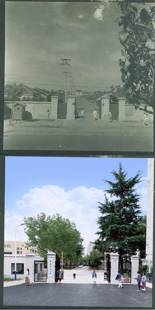国际汉语文化学院吴晓隆老师平日喜欢摄影,他带领同学们复刻老校门照片,用重现历史的方式,向老师大人致敬_副本.jpg