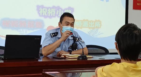 浦东公安民警授课讲述安全防范知识 浦东公安 图